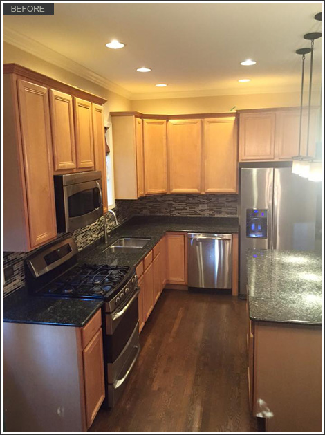 Exceptionnel Kitchen Cabinet Refinishing Roscoe Village Chicago Il Before22