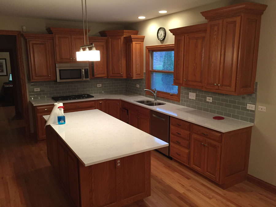 Medium image of oak kitchen cabinets refinishing in arlington heights il