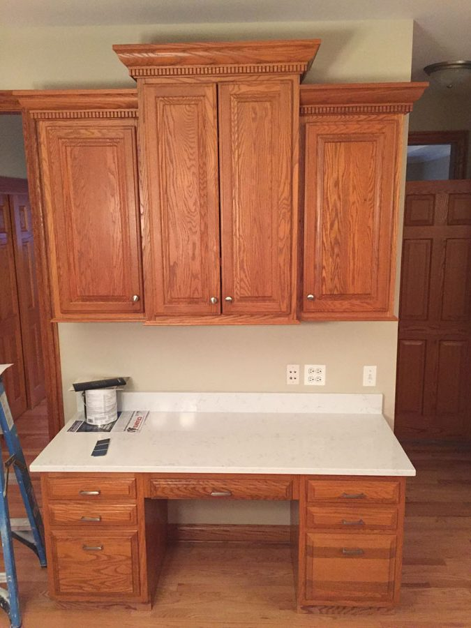 Oak Kitchen Cabinets Refinishing In Arlington Heights Il